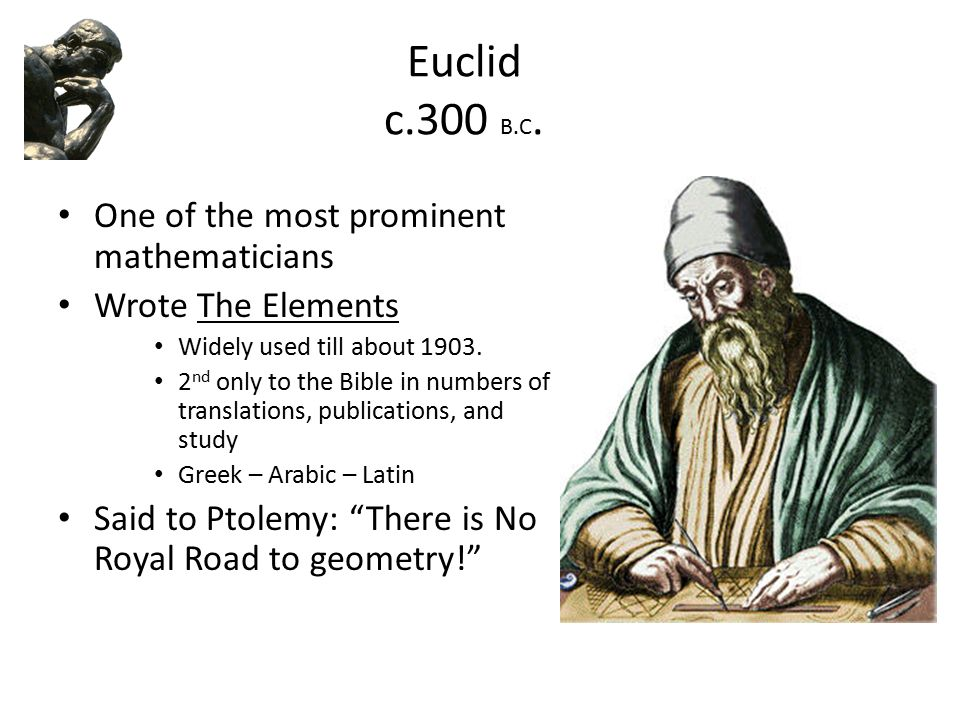 an analysis of the work of euclid for geometry in ancient greece Geometry as epitomized in the works of euclid and apollonius is – at least in its   interpretation of greek geometry concerns the origins and historical development  of  fresh reading of the history of book ii in its early phases.