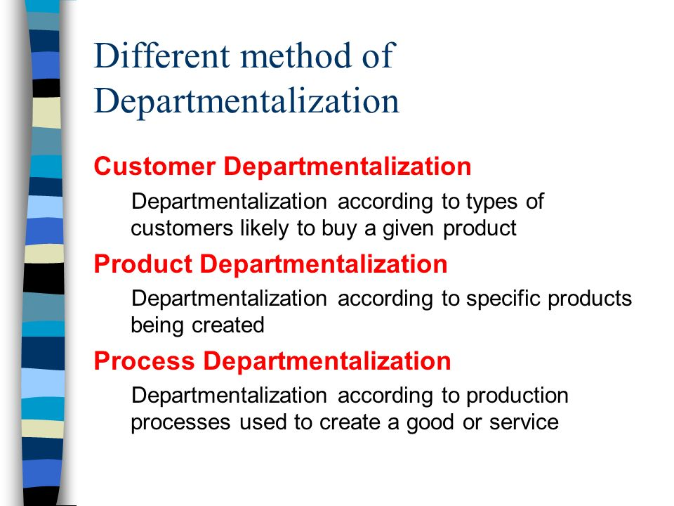 What Are Types of Departmentalization That Would Be Used in a Restaurant?