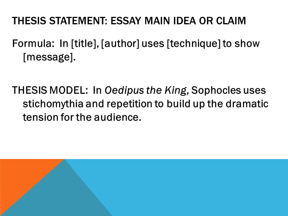 How To Write A Great Literary Essay  Ppt Video Online Download  Thesis Statement Essay Main