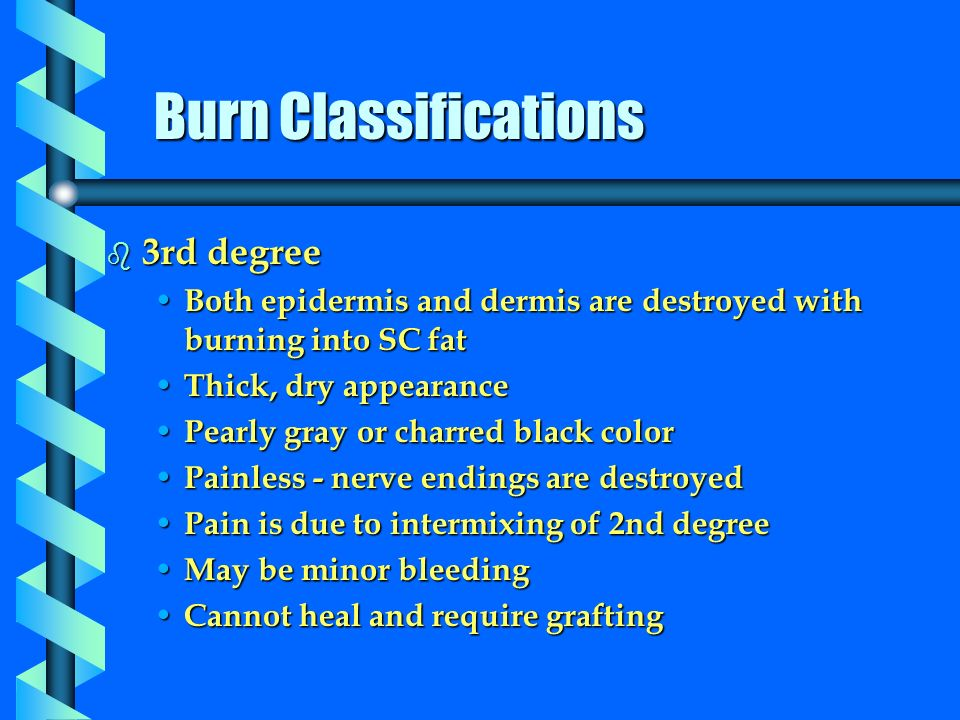 burns classification essay Classification and treatment of burns click on the links below to learn more about this topic classification of burns first-degree burns second-degree burns.
