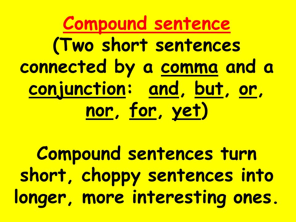 Sentence clause structure