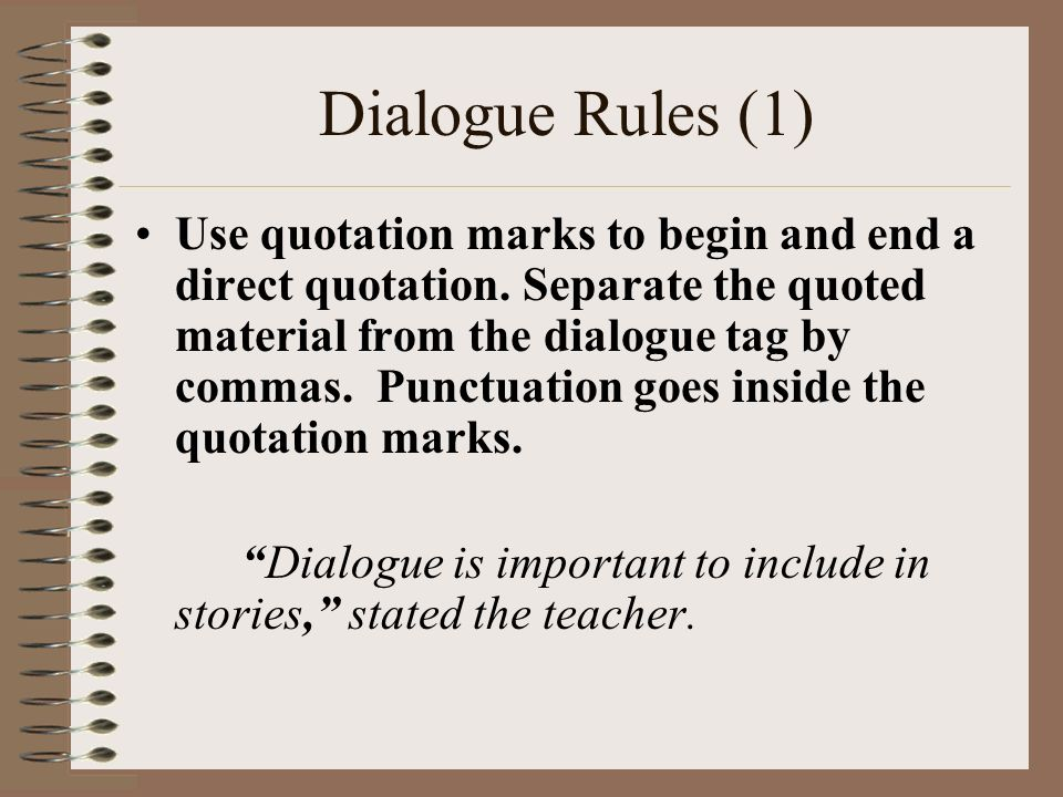 writing dialogue rules
