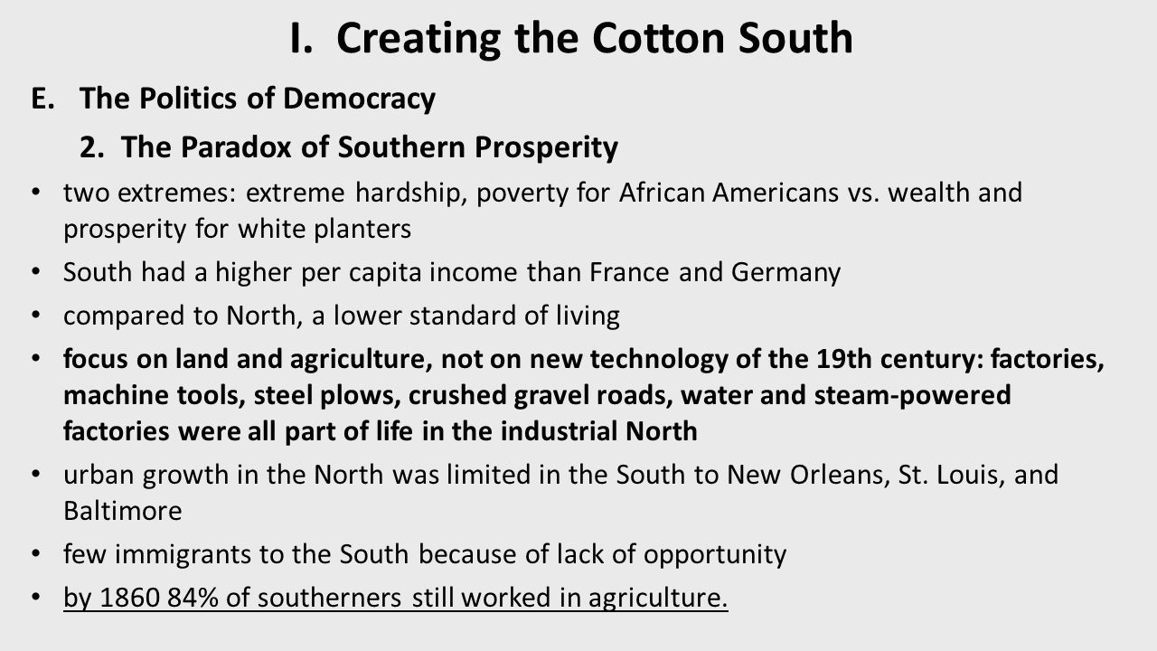 explain the large and expanding domestic trade in slaves between 1800 and 1860 University of virginia, the atlantic slave trade and slave life in the americas   between the 1830s and the beginning of the civil war in 1861, the american   itself from an expanding system of communication, trade, and production that   indeed, the two billion pounds of cotton produced in 1860 alone.