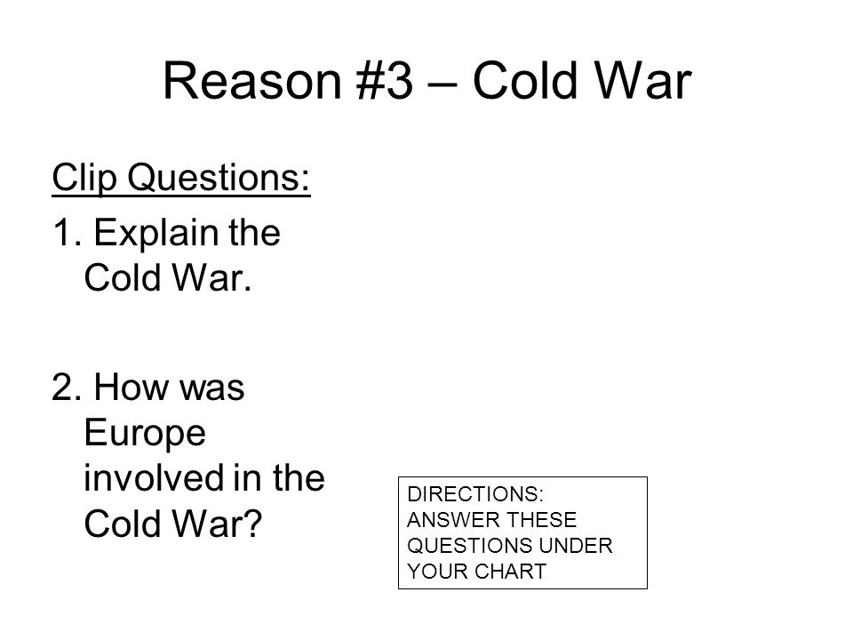 Questions about the cold war responses and Coursework Example