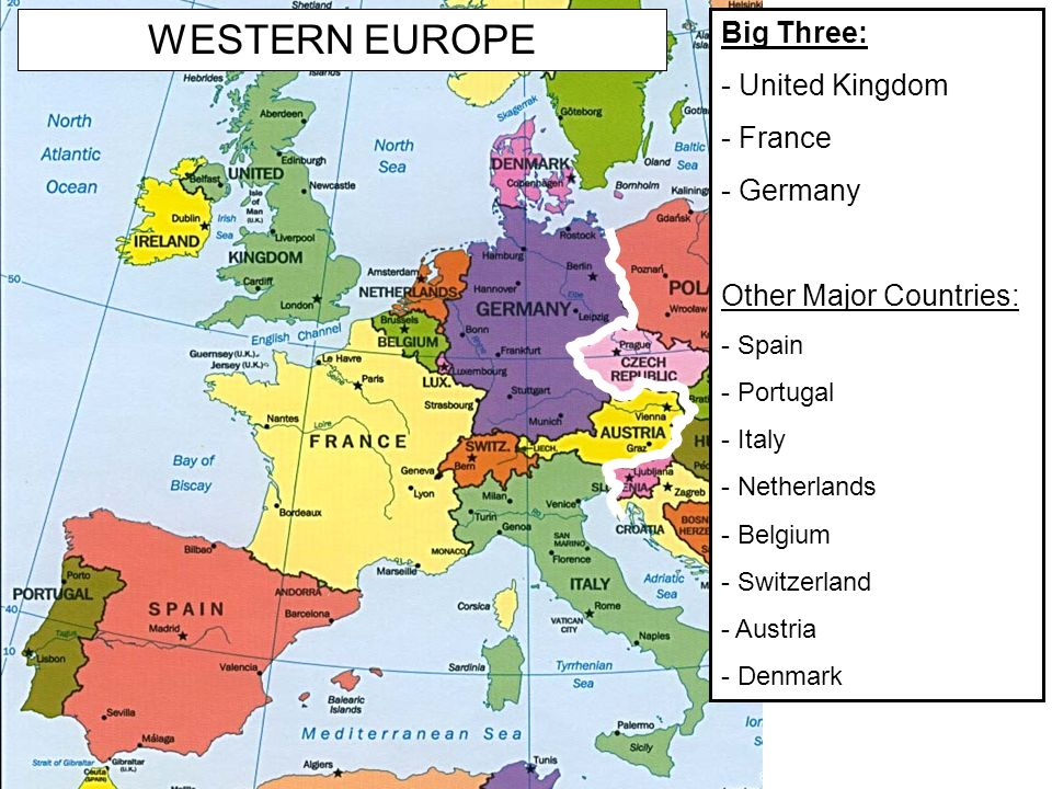 1. Objective (READ) SWBAT explain why Western Europe is ...