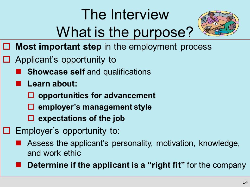 The Interview What is the purpose