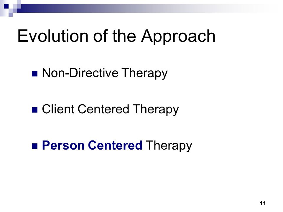 interventions of person centered therapy Person-centered therapy uses several interventions to facilitate client change beyond its foundational interventions of unconditional positive regard, reflective listening skills, and a focus on empathy the role of a person.