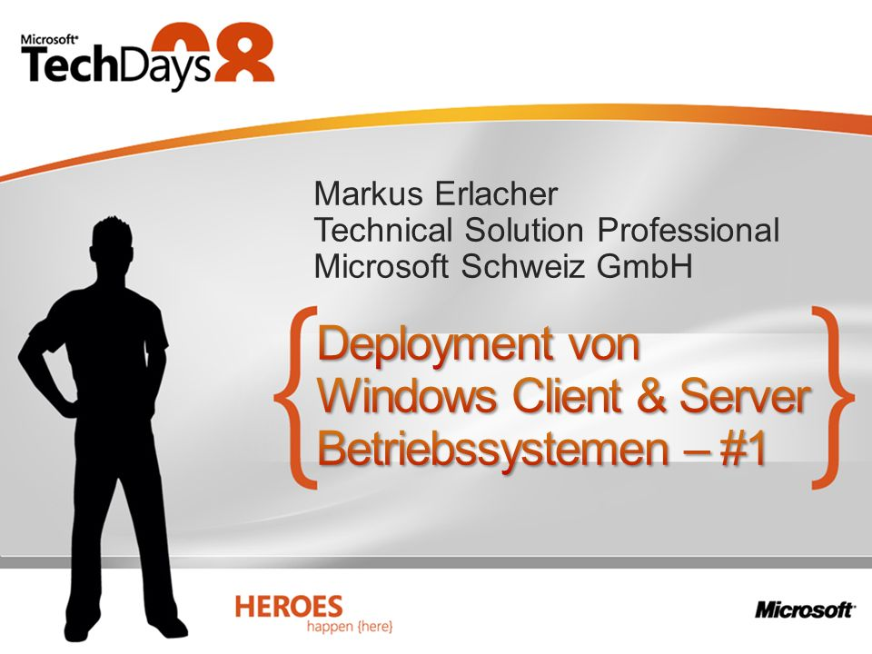 Deployment von Windows Client & Server Betriebssystemen – #1