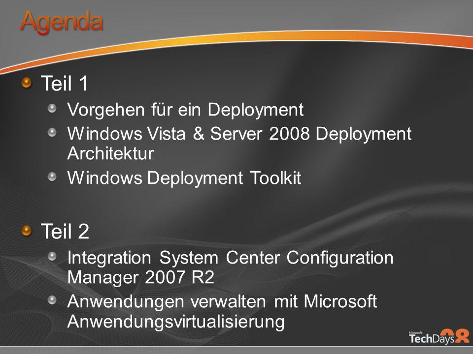 Agenda Teil 1 Teil 2 Vorgehen für ein Deployment