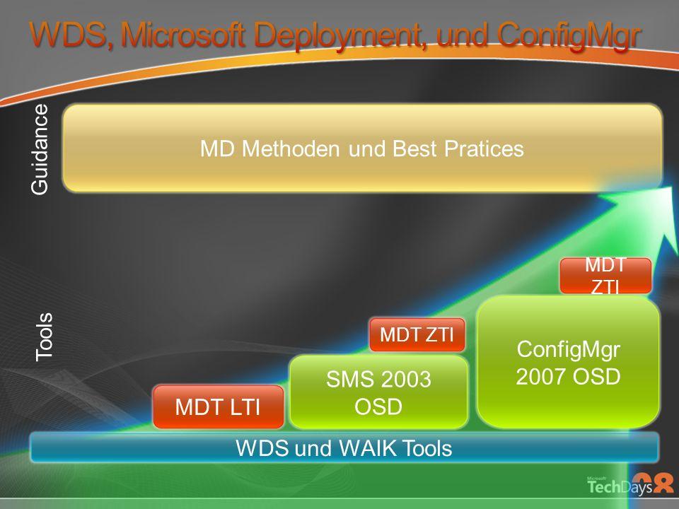 WDS, Microsoft Deployment, und ConfigMgr