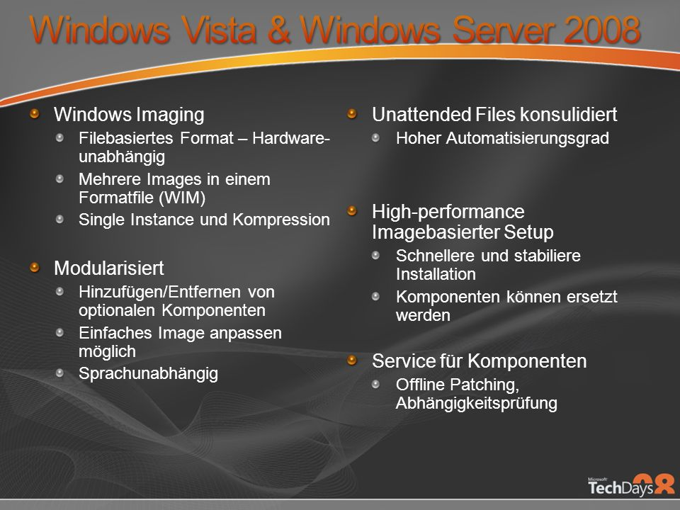 Windows Vista & Windows Server 2008