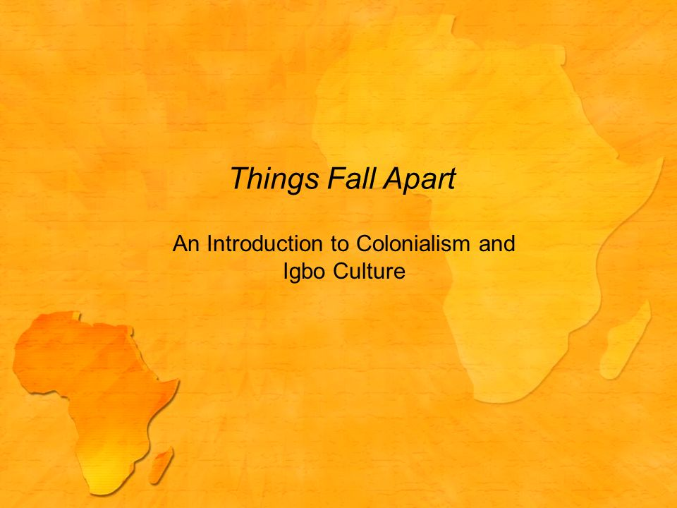 Colonialism in things fall apart