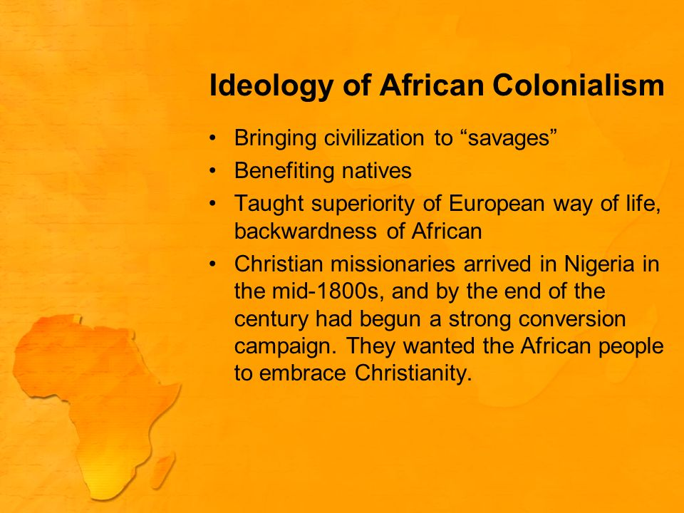 Ideology of African Colonialism