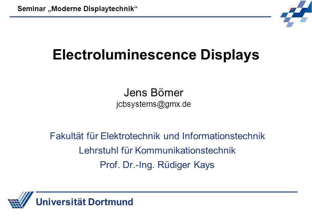Electroluminescence Displays