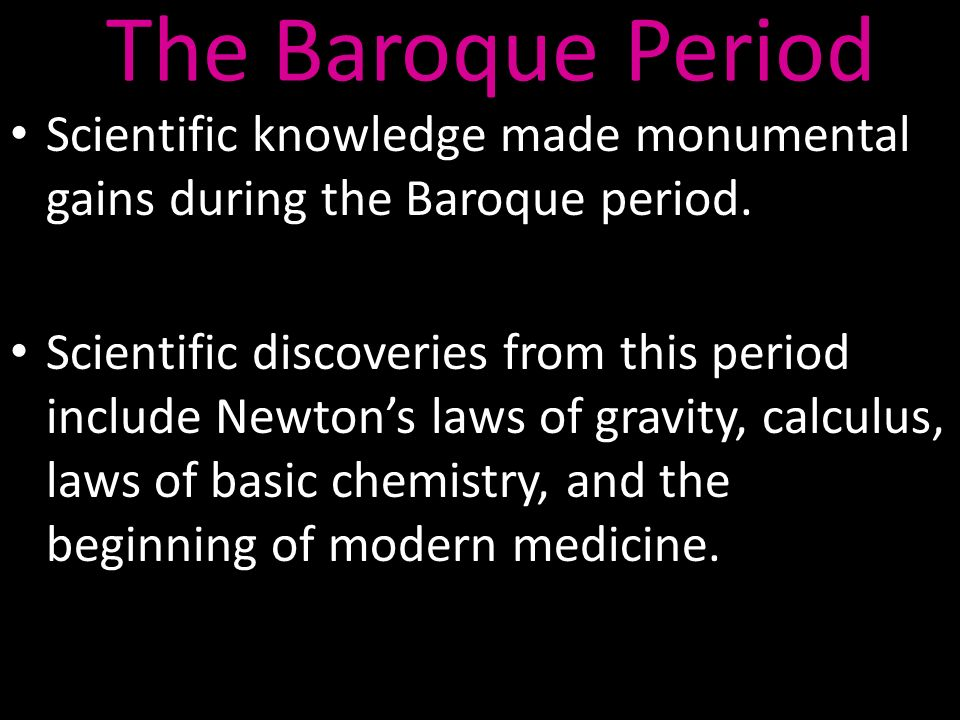 Timeline baroque and rococo ppt video online download for During the baroque period