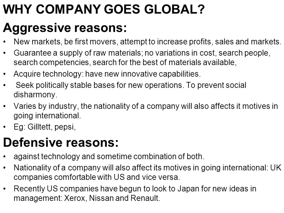 8 Reasons Why Most Companies Prefer to Go Global – Explained!
