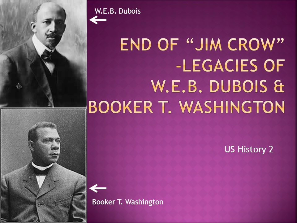an analysis of southern prejudice from booker t washington and w e b dubois