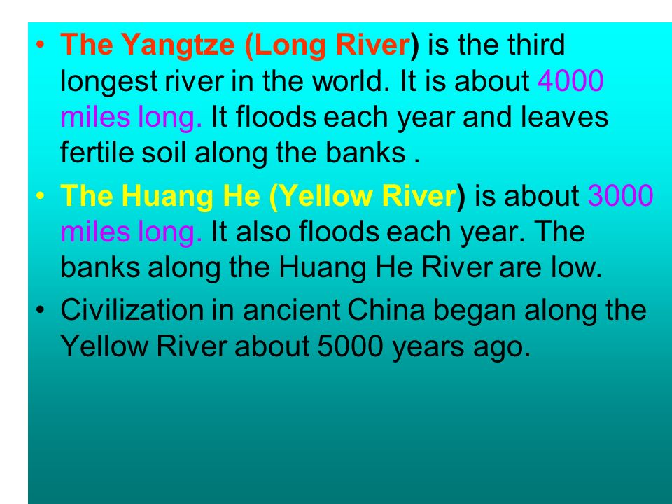Geography Of China Geography Of China For Thousands Of Years - What is the third largest river in the world