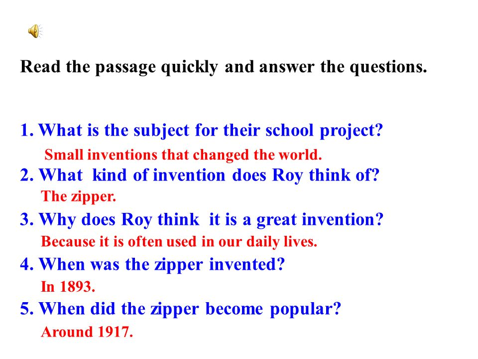 read the passage and answer the questions pdf