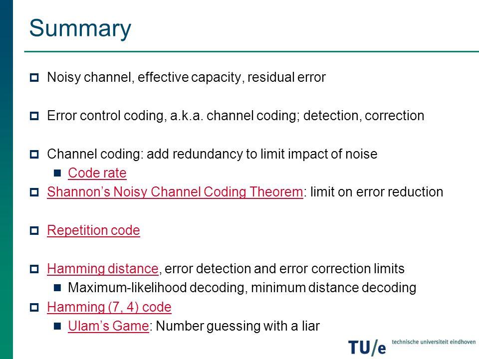 error correction code definition law