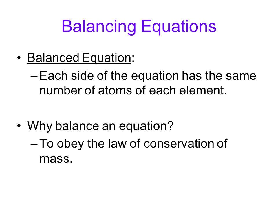 how to write a mass balance equation