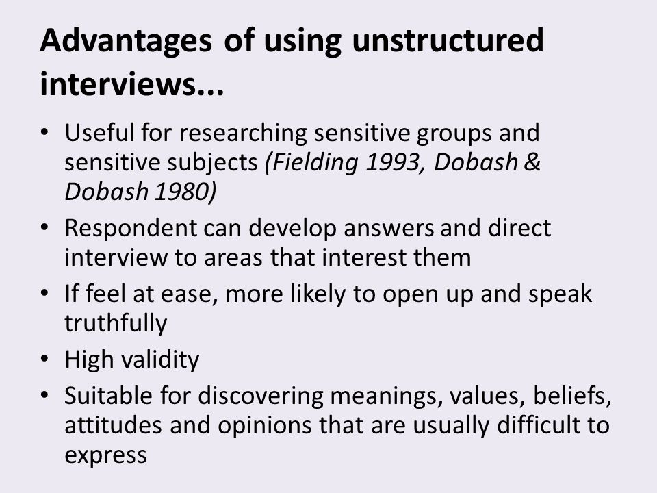 what are unstructured and structured interviews business essay Structured interview pdf what are unstructured and structured interviews business essay print reference this published: 23rd march, 2015  disclaimer: this essay.