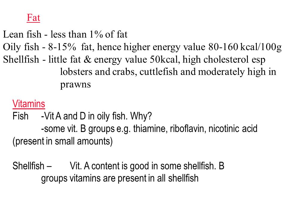 Fish shellfish classifications types structures for Is fish high in cholesterol