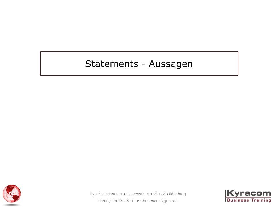 Statements - Aussagen