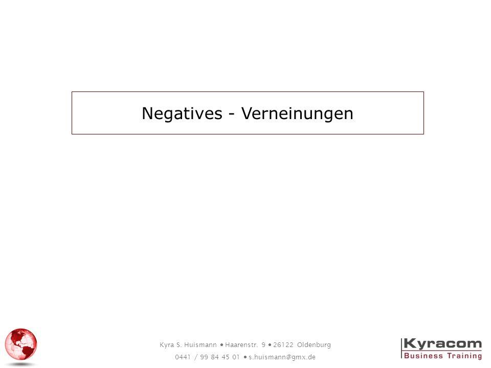 Negatives - Verneinungen