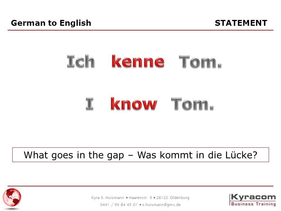 German to English STATEMENT