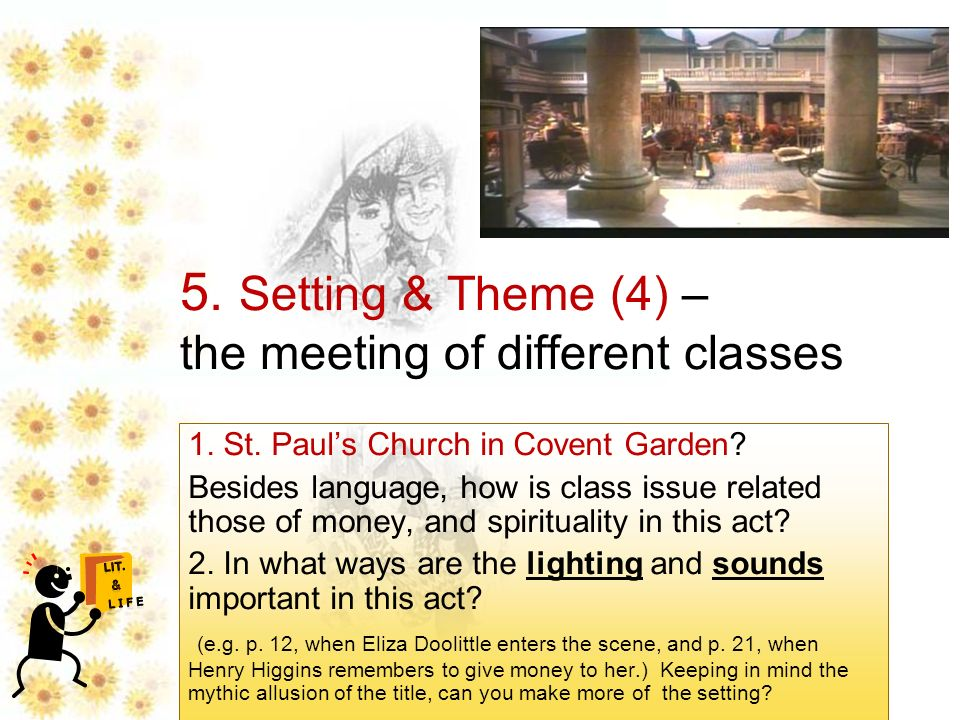 Setting theme 4 the meeting of different classes