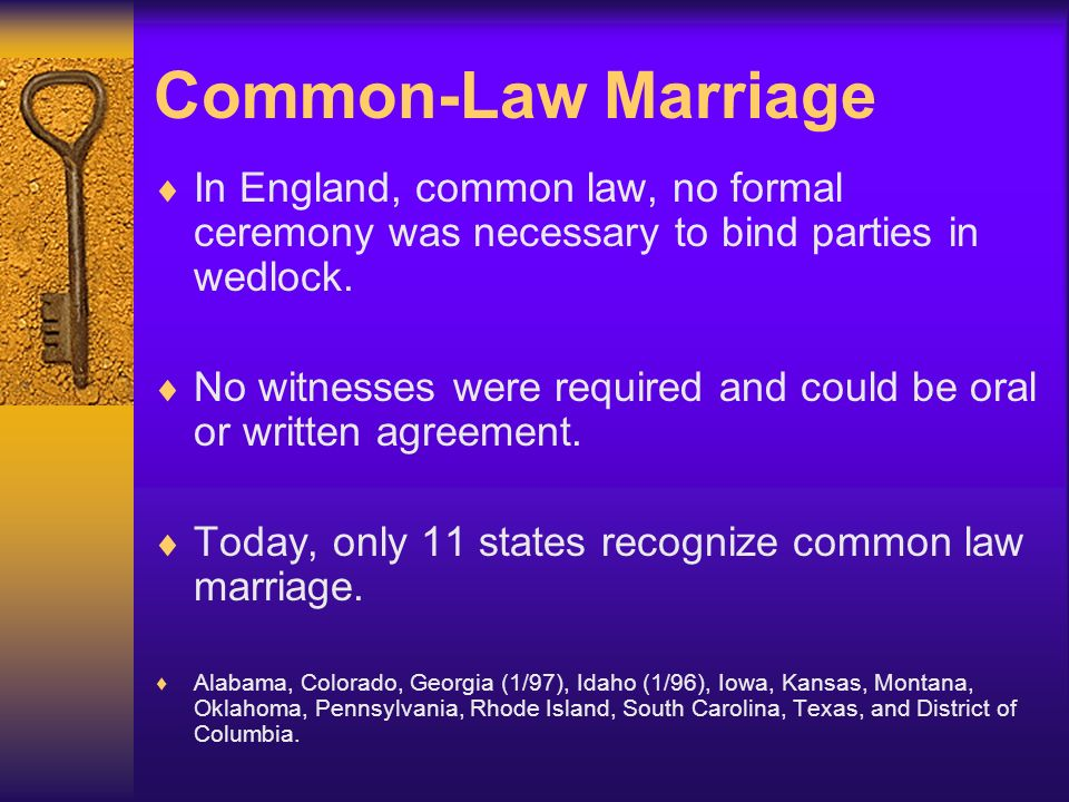 Common law marriage requirements in paris
