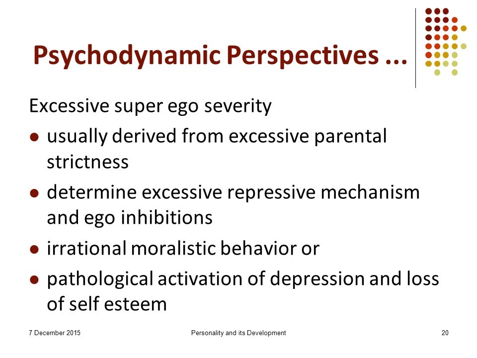 the psychodynamics of depression Abstract this paper sets out to consider a psychodynamic approach to postnatal  depression in particular, it examines the advantages of psychodynamic parent.
