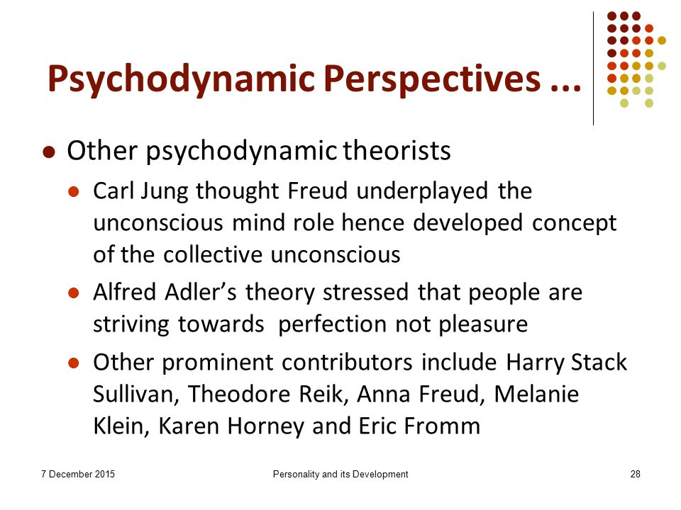 psychodynamic personality theories of karen horney Subject:psychology paper:personality theories self concept, self identity, and social identity | individuals and society | mcat | khan academy - duration: 9:38 .