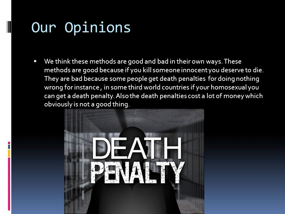 death penalty should exist Opinion by r albert mohler jr, special to cnn (cnn) -- the death penalty has been part of human society for millennia, understood to be the ultimate punishment for the most serious crimes.
