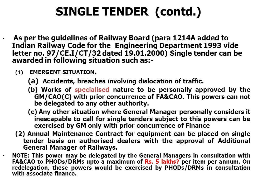 tender for indian railways