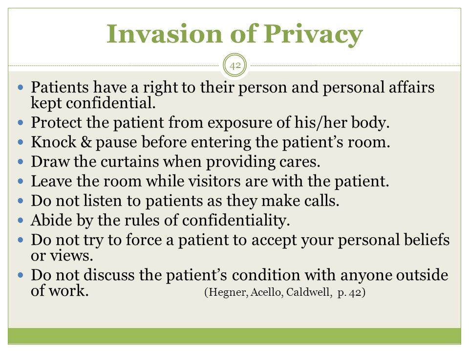 Invasion of privacy or not