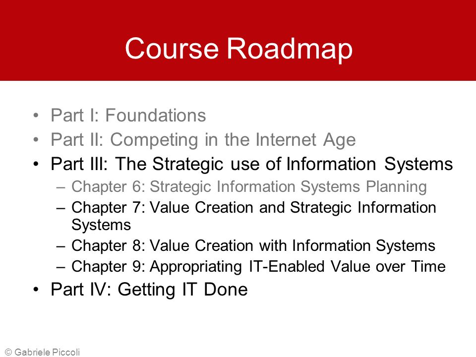 the strategic value of information We call it strategic value analysis because it is based on the familiar value chain   information technology: fifteen years ago the small computer business.