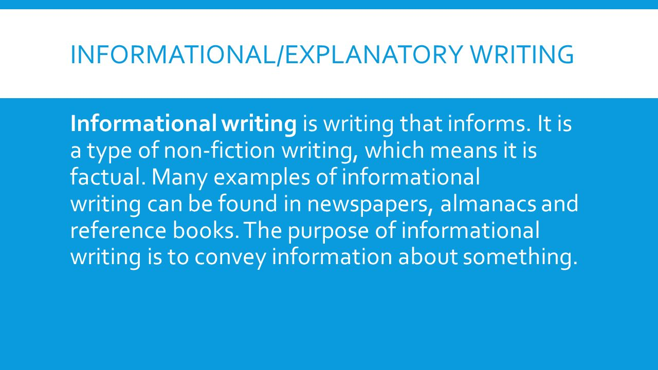 Examples Of Informative