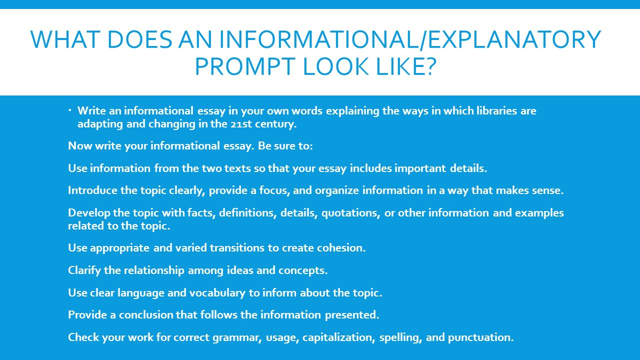 types of writing prompts and the arch method ppt video online  what does an informational explanatory prompt look like