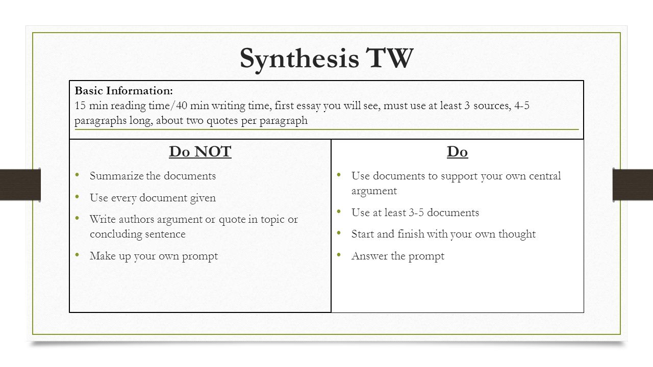 ap synthesis essay questions  essay academic writing service   ap synthesis essay questions a synthesis is a written discussion that  draws on one or more