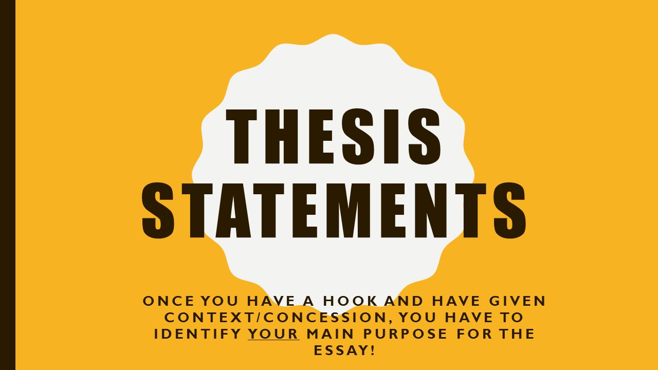 Concession and assertion thesis statement