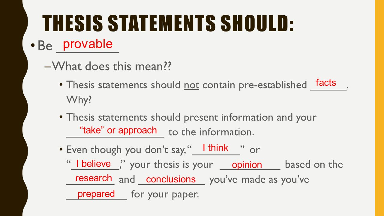 What does thesis statement mean in literature
