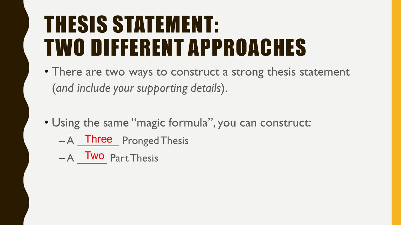 thesis statement includes Explanation of how to write an effective thesis statement includes examples of how to improve weak thesis statements also includes a four-point guide to distinguish.