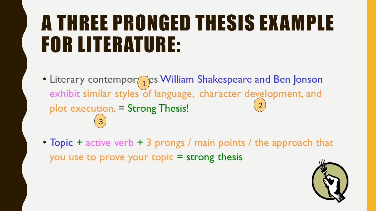 three pronged thesis