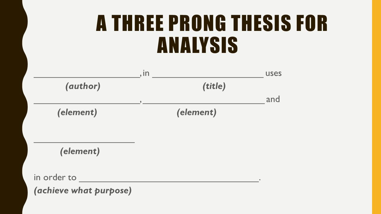 3 prong thesis research paper
