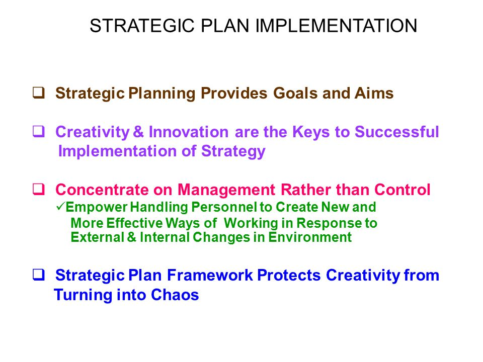 How To Make Strategic Planning Implementation Work Using Value