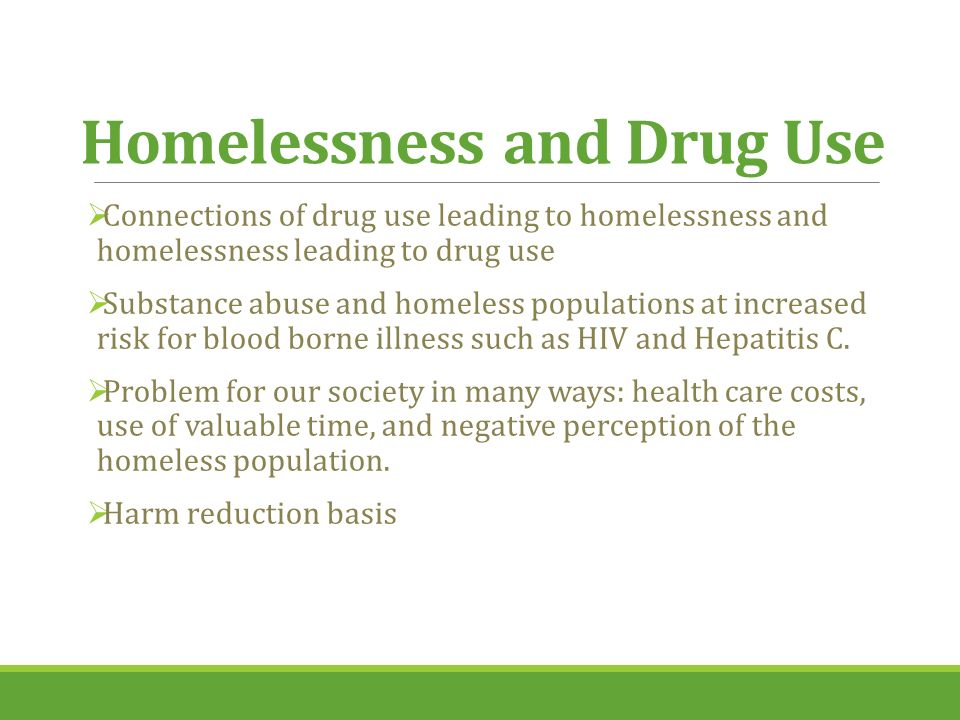 substance misuse and even homelessness article