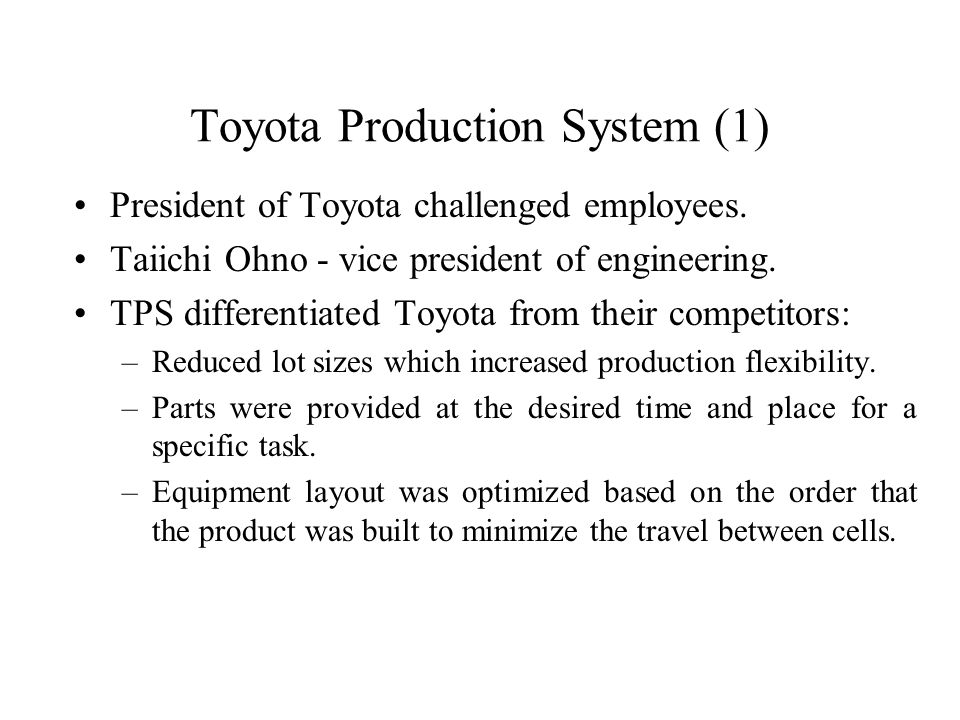 toyota production system engineering Find great deals for a study of the toyota production system from : an industrial  engineering viewpoint by shigeo shingo and andrew p dillon (1989,.