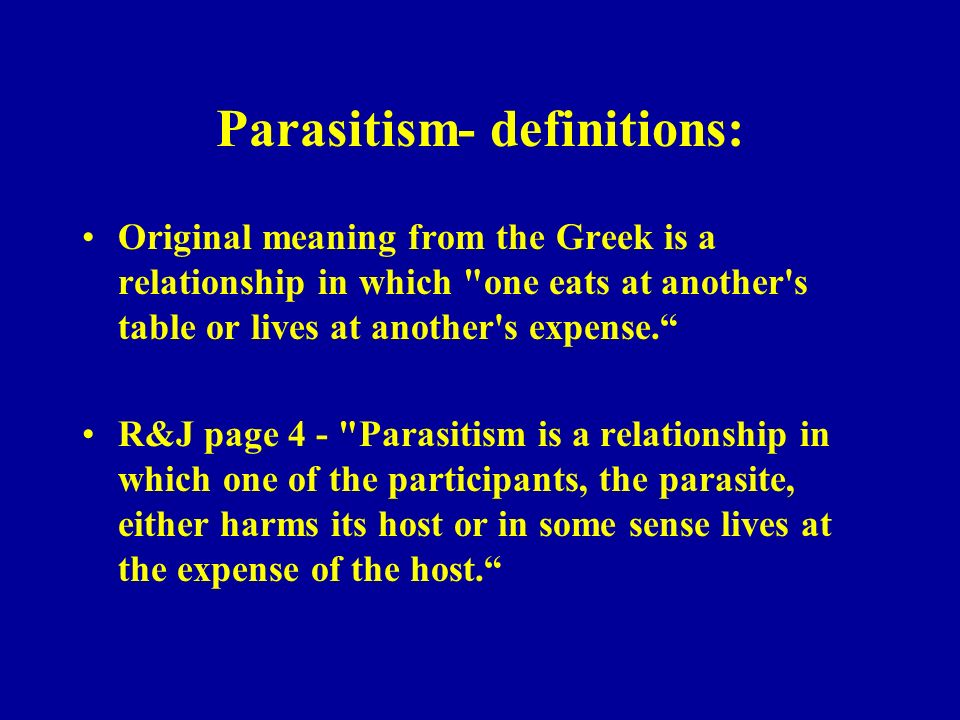 parasite host relationship definition webster